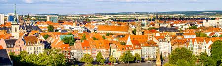 célèbre vieille ville d'erfurt - allemagne Banque d'images