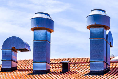 new chimneys at a roof