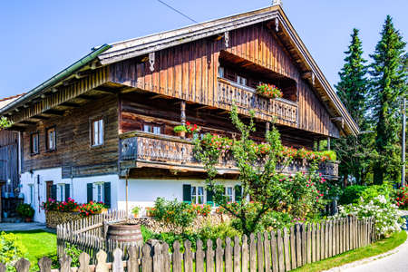 typical old bavarian farmhouse - photo Standard-Bild
