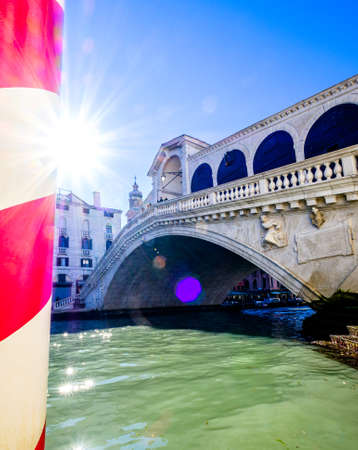 famous rialto bridge in venice - italy