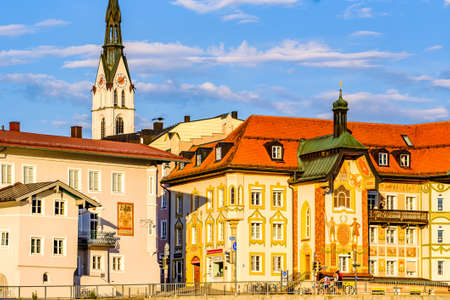 famous old town of bad toelz - bavaria - germany