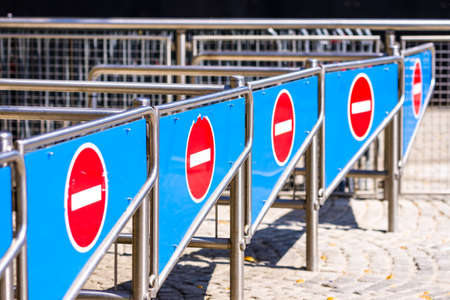 security barriers in a row - closeup - photo Stock fotó