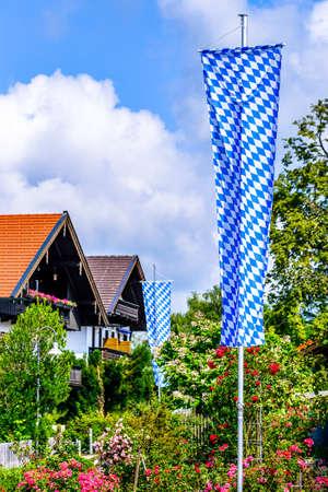 the bavarian flag - old - photo