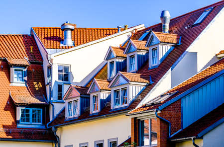 famous old town of erfurt - germany Stock Photo
