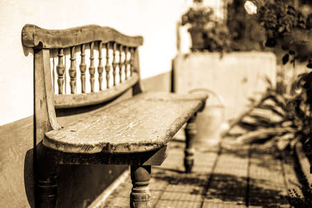 old bench at a park