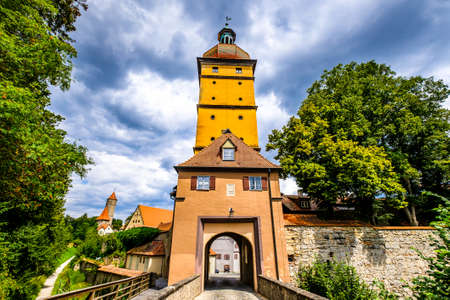 famous old town of dinkelsbuhl - germany 免版税图像