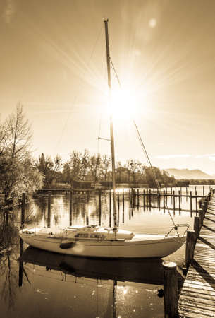 sailboats at a harbor - photo