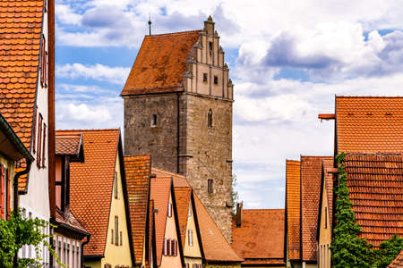 famous old town of dinkelsbuhl - germany 写真素材