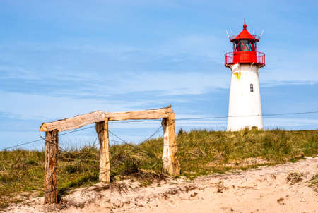 typical lighthouse at the northsea - sylt Stockfoto