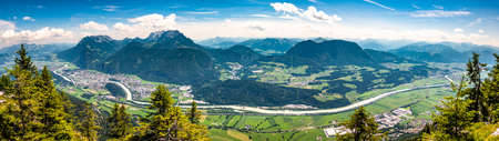 view from mountain pendling near kufstein - austria 免版税图像