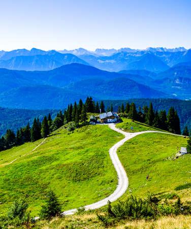 view at the brauneck mountain - lenggries - bavaria