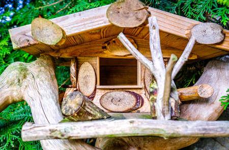 old wooden bird house  - photo