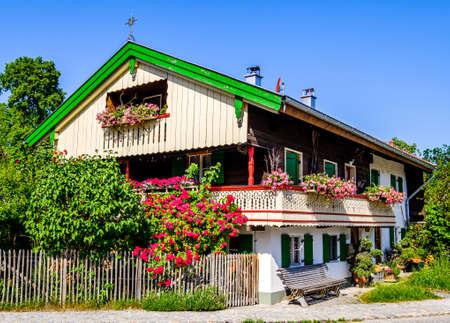 typical old bavarian farmhouse - photo Reklamní fotografie