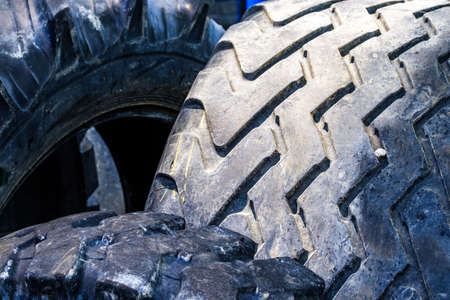 heap of old used tires