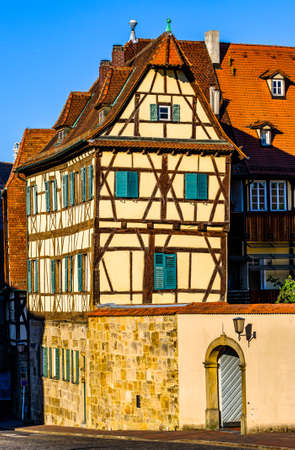 historic facade in the old town of bamberg - germany Фото со стока