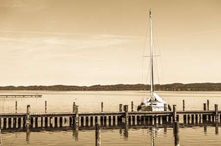 sailboats at a harbor - photo