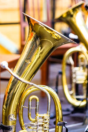 part of a typical bavarian brass instrument - photo Standard-Bild - 130814090