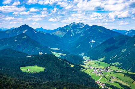 view from mountain pendling near kufstein - austria Фото со стока