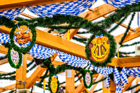 typical old decoration at the oktoberfest in munich - germany Banco de Imagens
