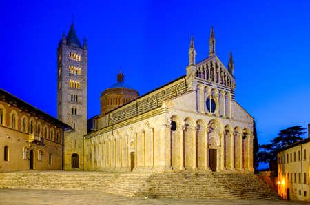berühmte Altstadt von Massa Marittima in Italien