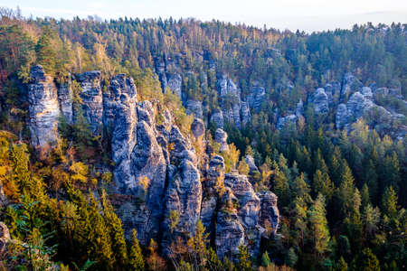 view at the famous bastei hills - germany