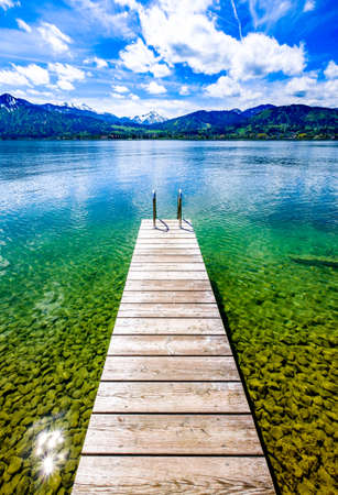 scenery at the tegernsee lake in bavaria - germany Stock Photo