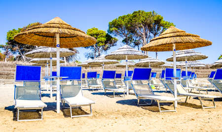 typical beach in italy near rome Stock Photo