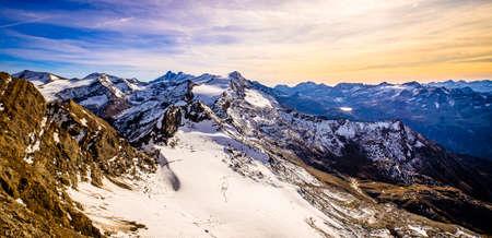 view at the kitzsteinhorn mountain in austria - photo