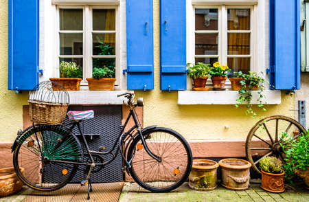 old bike at an old town in austria