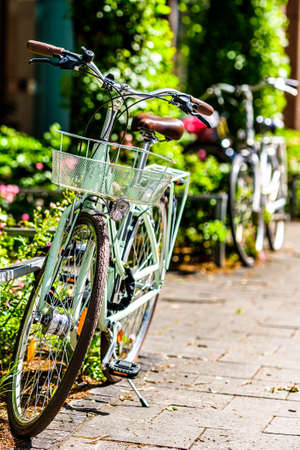 old bike at an old town in austria - photo Stok Fotoğraf