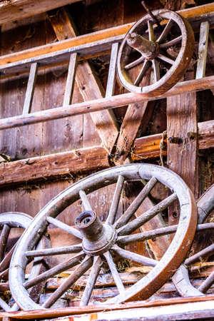 part of an old cart - closeup