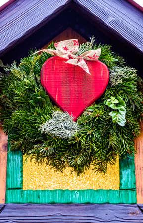 modern christmas decoration - close up - photo
