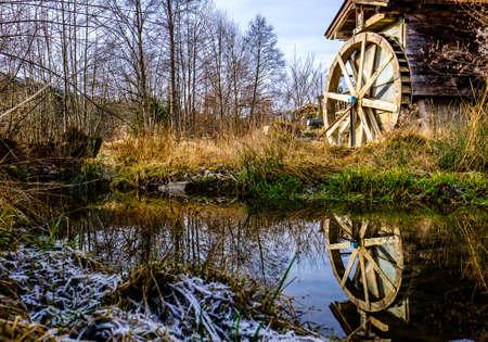 old watermill at a farm Standard-Bild