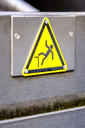 caution wet floor sign at a sidewalk