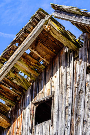 old wooden hut at the alps Stock Photo