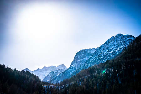 mountains at the austrian karwendel - eng alm