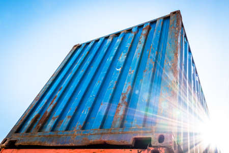 colorful cargo industry shipping container Standard-Bild