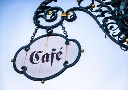 old cafe sign in austria