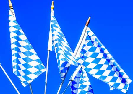 typical bavarian national flag - photo