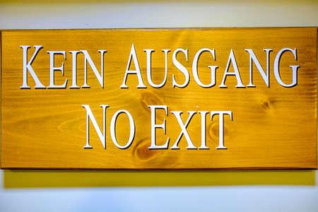 modern emergency exit sign - photo - translation: no exit