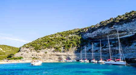 sailboat at a lake - corsica Stock Photo