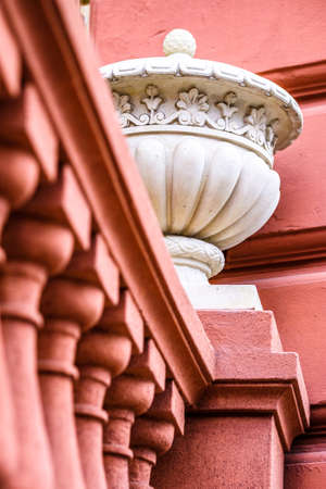 antique balustrade at a historic building