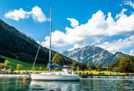sailboat at a lake - bavaria
