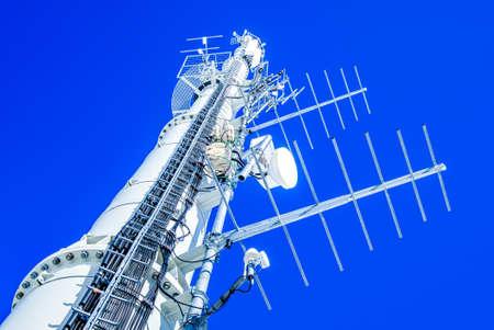 mobile phone transmitter antenna - photo Stock Photo