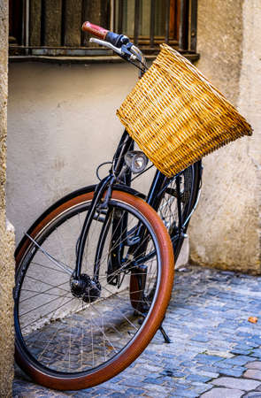 typical old bike in austria - photo Фото со стока