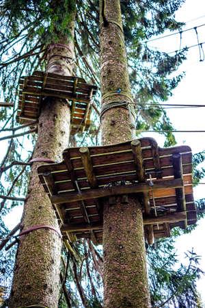 typical climbing platform at a forest