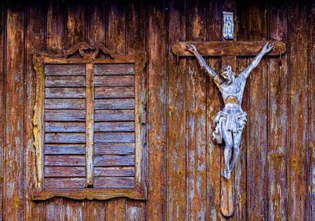 typical historic bavarian wayside cross - photo