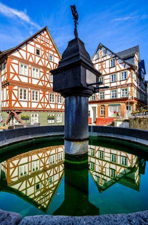 historic buildings at the old town of Wetzlar in Germany Archivio Fotografico - 150286371