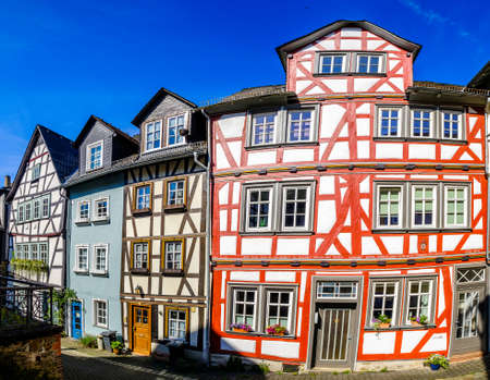 historic buildings at the old town of Wetzlar in Germany