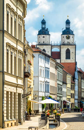famous old town with historic buildings in Wittenberg